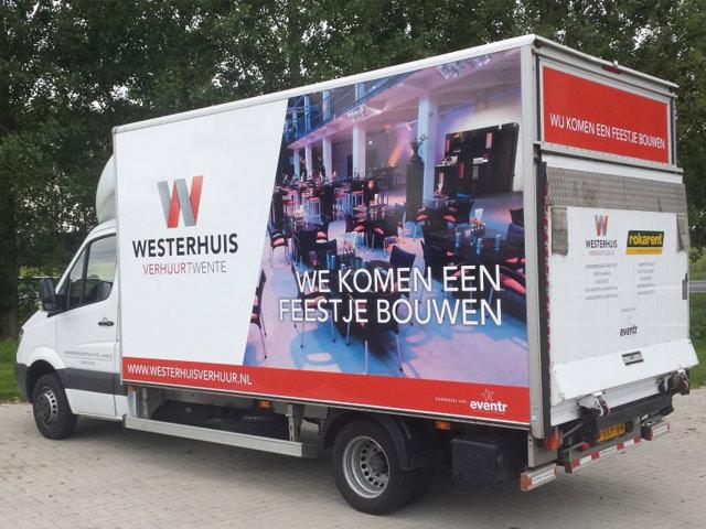 Autobelettering Westerhuis Verhuur